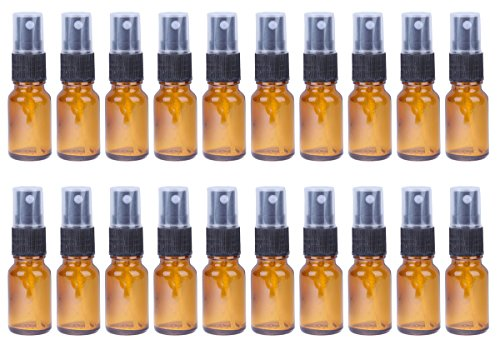 30ml Glass Refillable Spray Bottle - Cosmetic Perfume Mist - 20 Piece Set 1 Oz Mini Cologne