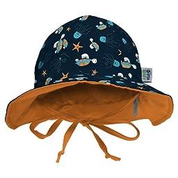 My Swim Baby Sun Hat, Navy Sea Friends, Large