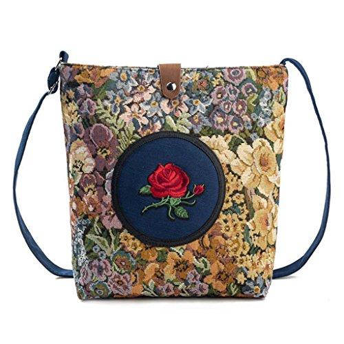 Mini à Dames à Sac à bandoulière Femmes Sac Main 3 1 Messenger Floral Main JAGENIE Fourre Crossbody Tout Sac 6tYgx5qtw