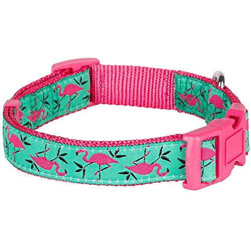 Blueberry-Pet-The-Glam-Life-of-Ladybug-or-Flamingo-Love-Designer-Dog-Collar-4-Patterns-Matching-Leash-Harness-Available-Separately