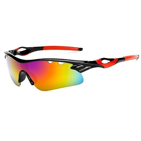 ulofpc Gafas de Sol de Deportes polarizados para Hombres Mujeres Ciclismo Running conducción Pesca Golf Gafas de béisbol