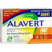 Alavert Alavert 24 Hour Orally Disintegrating Tablets Citrus Burst, Citrus Burst 18 tabs (Pack of 3)