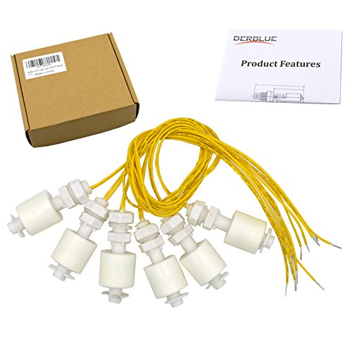 DerBlue 6 Pieces Liquid Water Level Sensor Vertical Float Switches ,Model: DP4500,PP Material by DerBlue