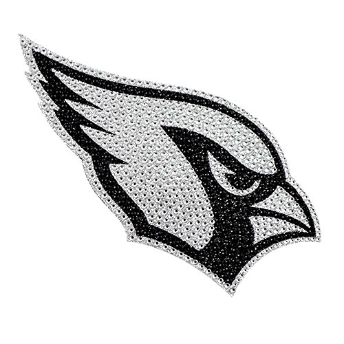 (Arizona Cardinals XL Logo Black & White Auto Bling Rhinestone)