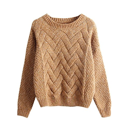 Womens Casual Long Sleeve Knitwear Jumper Cardigan Sweater Pullover - 6