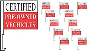 36 Car Window Clip On Flags CERTIFIED Pre-Owned Vechicles