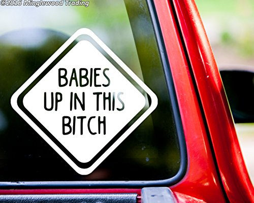 Minglewood Trading BABIES UP IN THIS BITCH Vinyl Decal Sticker 6
