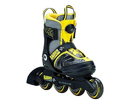 Boa K2 Raider (K2 Skate Raider Boa Inline Skates, Gray/Yellow)