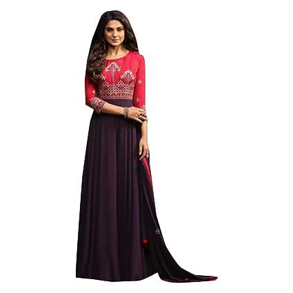 53ec4123d06 Amazon.com  Long Christian Festival Bride s Maid Formal Dress Salwar Suit  Indian Islamic Pakistani Abaya Semi Stitched 7384 (Purple)  Home Improvement