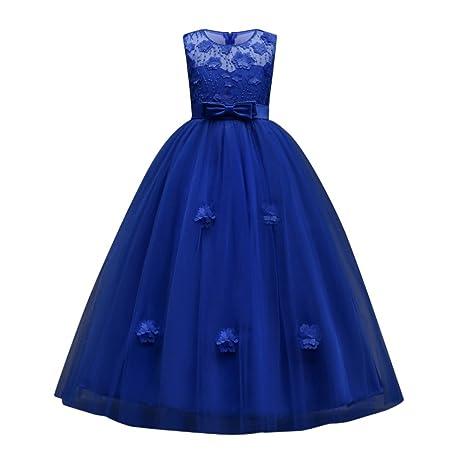 Vestido de noche vestido de flores bordadas princesa Elegancia vestido largo Vestido de dama de honor