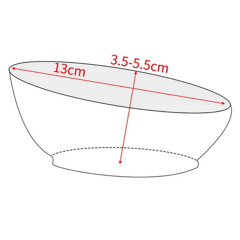 Roblue Convenient Feeding Small Dog Bowl Non-slip Oblique Mouth Durable Water Dish Feeder Pet Bowl Portable PT0070