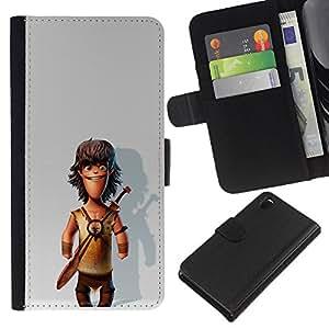 KingStore / Leather Etui en cuir / Sony Xperia Z3 D6603 / ;