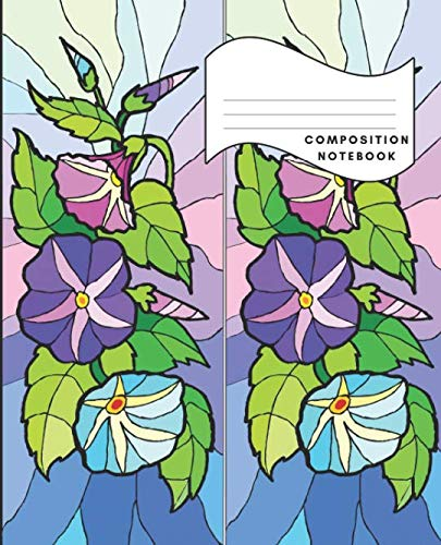 Composition Notebook: College Ruled 100 Sheets 200 pages 7.5 x 9.25 School Journal Stained Glass Window