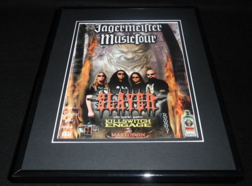 slayer-2004-jagermeister-music-tour-framed-11x14-original-vintage-advertisement