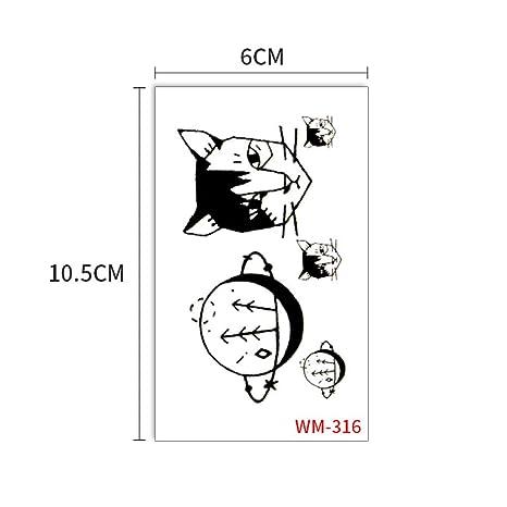 Etiquetas engomadas del tatuaje del gato divertido gatito lindo ...