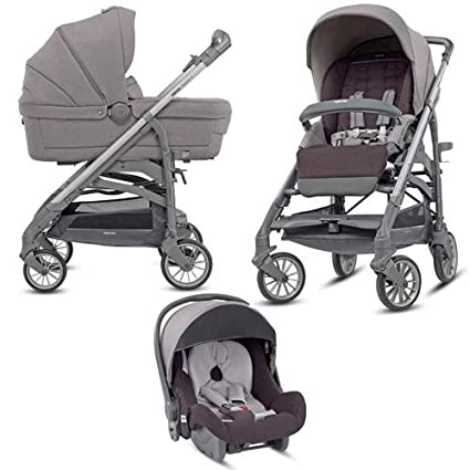 Inglesina - Cochecito de bebé Trilogy, tres en uno, color gris