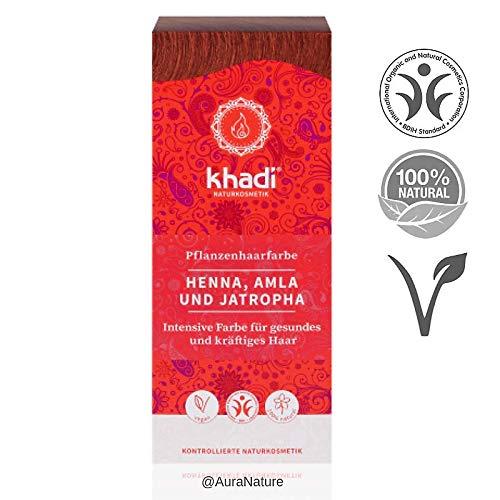 Khadi - Hair Colour Henna, Amla & Jatropha 100g by Yumi Bio Shop