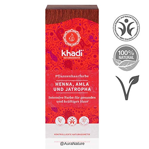 Khadi - Hair Colour Henna, Amla & Jatropha 100g