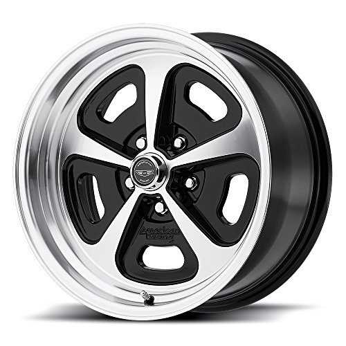(AMERICAN RACING VN501 500 MONO CAST Wheel with BLACK and Chromium (hexavalent compounds) (15 x 7. inches /5 x 72 mm, 0 mm Offset))