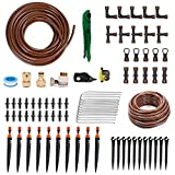 """KORAM OT-B Drip Irrigation Gardener's Drip Kit Include 1/2"""" 1/4"""" Tubing and Fittings Watering Kit with Hose Faucet Timer for Garden Greenhouse, Flower Bed, Patio, Lawn"""