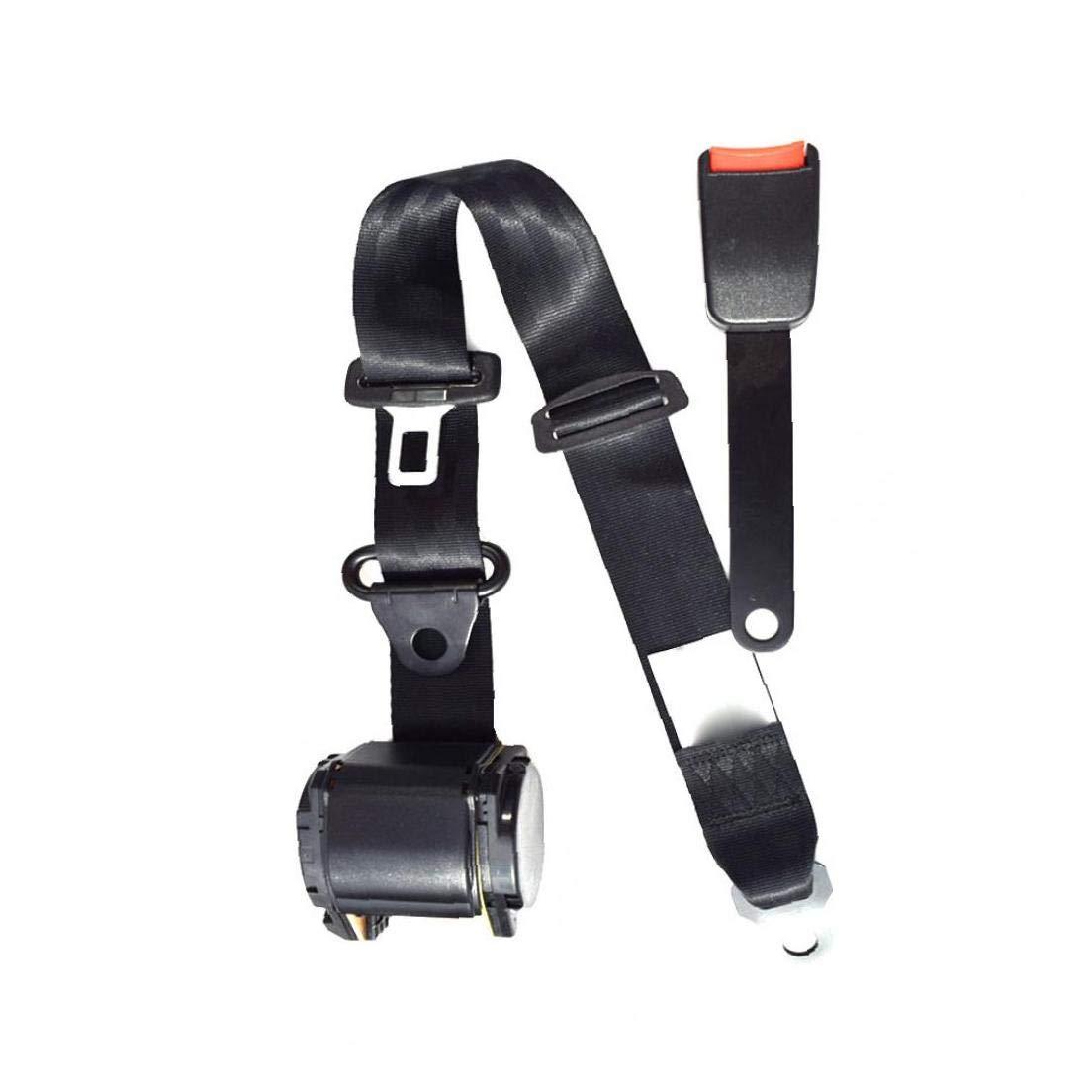 3 Punto De Asiento Ajustable Kit De Seguridad del Cintur/ón De Seguridad del Arn/és del Cintur/ón del Regazo Coches Universales Veh/ículos 1Ponga