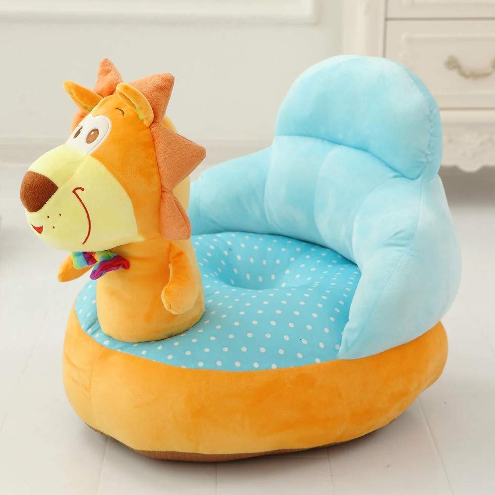 Y&Y Child Plush Chair,Cartoon Soft Child Sofa Girl Birthday upholstered Lounge for Gaming Room -Yellow 50x45cm(20x18inch)