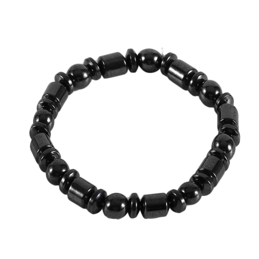 Baynne Body Health Care Biomagnetic Black Stone Magnetic Bracelet Men Women Magnetic Health Weight Loss Hand Bracelet Jewelry