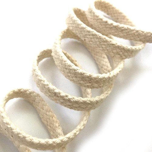 Anrox Supply Co. 3/8' Natural Braided Cotton Drawcord Drawstring Trim Lace 5YDS