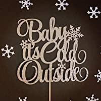 Baby its Cold Outside Cake Topper, Snowflake Topper, Winter Baby Shower, Winter Wonderland Topper