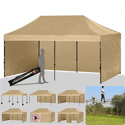 ABCCANOPY 18+colors Deluxe 10x20 Pop up Canopy Outdoor Party Tent Commercial Gazebo with Enclosure Walls and Wheeled Carry Bag Bonus 6x Weight Bag and 2x Half Wall (Commercial Canopy Tent)