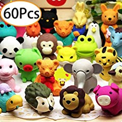 URSKYTOUS Funny Toys animal erasers are perfect for the classroom or office as easers or decoration. The kids will enjoy taking them apart and playing with them, also a hit for eraser collection.High Quality Made of non-toxic and eco-friendly...