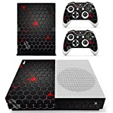 Chickwin Xbox One S Skin Vinyl Decal Full Body Cover Sticker For Microsoft Xbox One S Console and 2 Controller Skins (Black Comb)