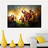 Ruby Opal Clash Of Clans Painting Art canvas Poster cloth poster canvas print Custom Print your image Fabric Poster SQ0428-ZHH