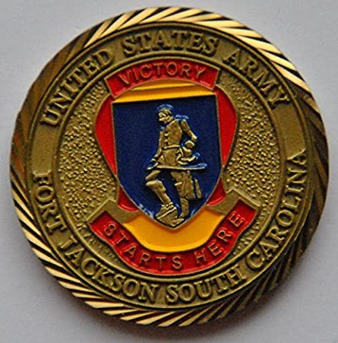 US Army Fort Jackson South Carolina Challenge Coin (Military Fort)