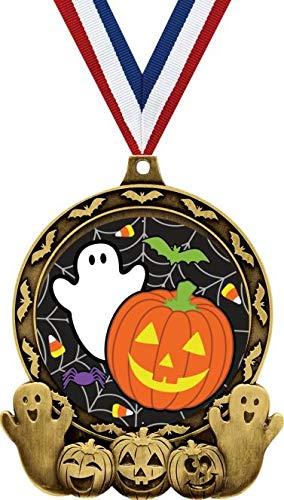 amazon com halloween awards 3 gold halloween contest medal
