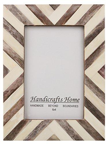 Picture Frames Photo Frame Chevron Herringbone Vintage Wooden Handmade Naturals Bone Classic Size 4x6 Inch (Brown) (Chevron Pictures)