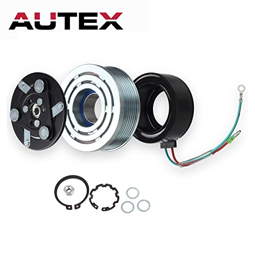 AUTEX AC A/C Compressor Clutch Assembly Kit 80221SWAA02 38810RRBA01 4918U1 Replacement for 2006 2007 2008 2009 2010 2011 Honda Civic - Replacement Clutch Ac
