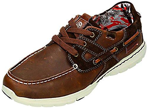 Dockers - Zapatos de cordones para hombre Marrón marrón Marrón - marrón