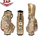 ZAP GOLF ザップゴルフ DRAGON 龍 ドラゴン柄 キャディバッグ 9.5型 ゴールド