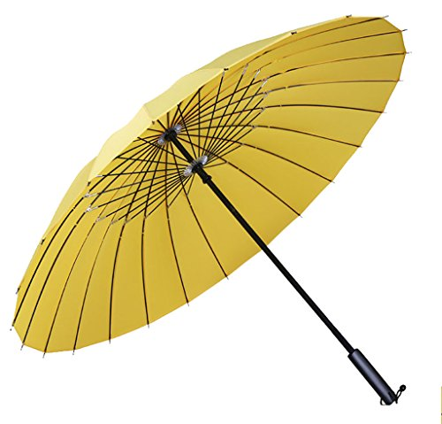 Generic Large Size Foldable Umbrella Size 68inch Color Yellow by Generic