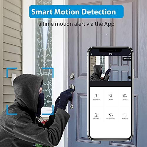 WiFi Video Doorbell, NGTeco Wireless Security Doorbell Camera, 1080P Wide Angle, 2-Way Audio, IP65 Waterproof, Motion Detection, Night Vision for Home Security