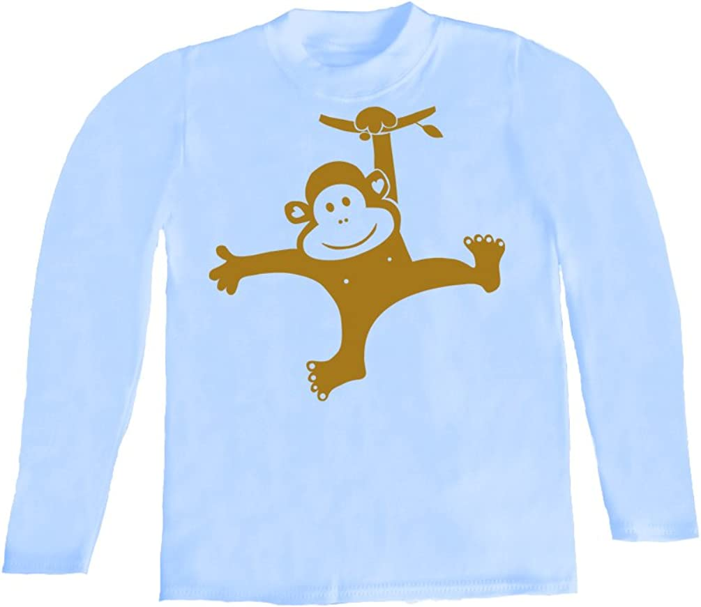 Monkey Swinging Inda-Bayi Baby-Toddler-Kids Cotton Long Sleeve T Shirt
