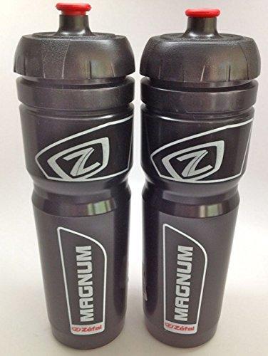 ZEFAL Magnum Bike Bicycle Clear Water Bottle 33oz Black Color 2-Pack