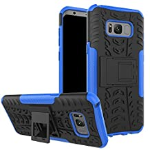 S8 Plus Case, Galaxy S8 Plus Case, Moment Dextrad [Built-in Kickstand] [Non-slip Design] Dual Layer Hybrid Full-body Rugged [Shock Proof] Samsung Galaxy S8 Plus Case Cover + Capacitive Stylus (Blue)