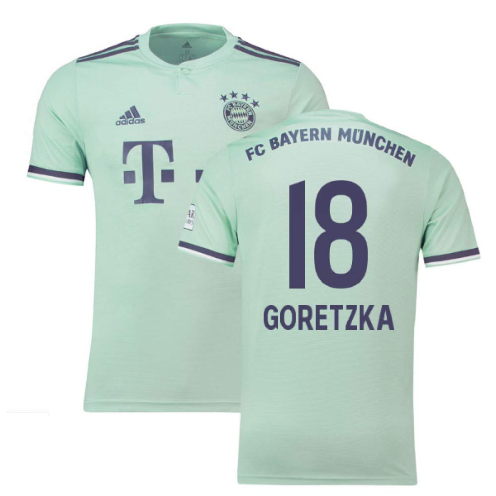 2018-19 Bayern Munich Away Football Soccer T-Shirt Trikot (Leon Goretzka 18)