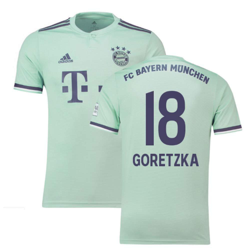 2018-19 Bayern Munich Away Football Soccer T-Shirt Trikot (Leon Goretzka 18) - Kids