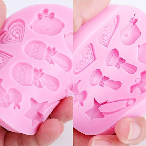Efivs Arts Silicone Candy Making Supplies Fondant Chocolate Mold Cake Decorating Tool Baby Shower Party