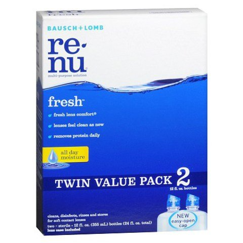 Bausch & Lomb renu fresh Multi-Purpose Solution Twin Pack (4x16 Fluid Ounce Bottles+ 2x2 Oz Travel) (Bausch,GF-5k