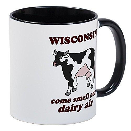 - CafePress Wisconsin Smell Dairy Air Mug Unique Coffee Mug, Coffee Cup