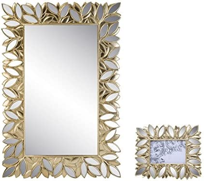 OK Lighting Gaia Wall Plaque Mirror with Picture Frame 4X6